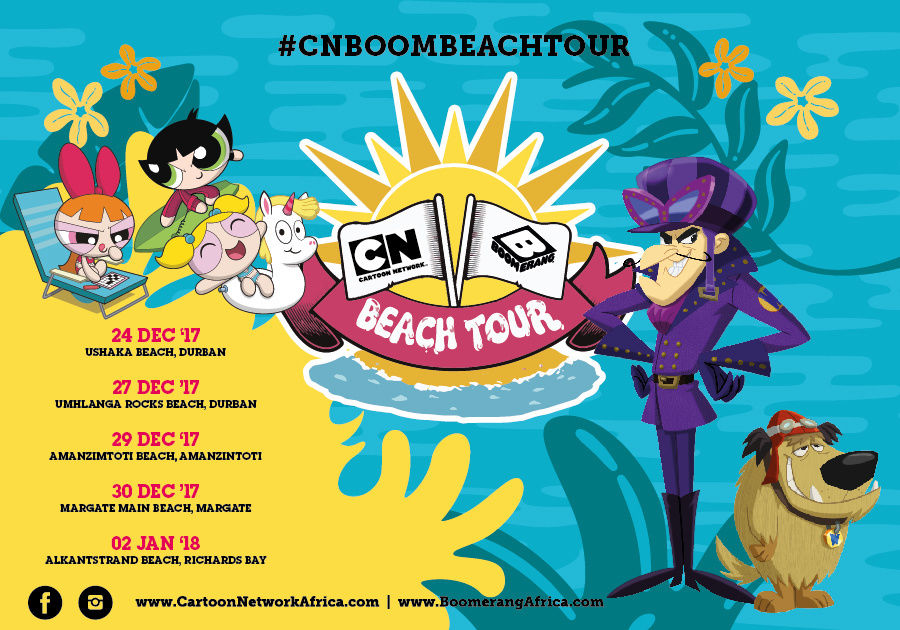 Cartoon Network And Boomerang Beach Tour South Africa Cartoon Network Africa